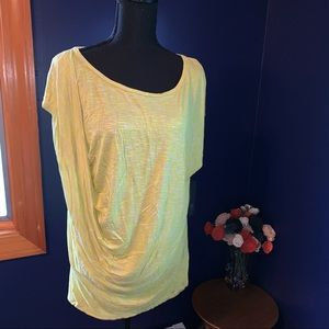NWT Apt9 drape front muscle tee XL